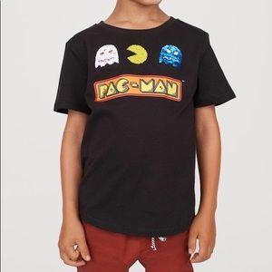 H&M Pac Man Reversible-sequin T-shirt 6-8Y Boy